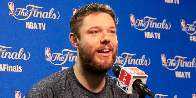 CLEVELAND, OH - JUNE 10:  Matthew Dellavedova #8 of the Cleveland Cavaliers attends media availability for the 2015 NBA Final