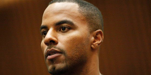 LOS ANGELES, CA  FEBRUARY 20:  Former NFL safety Darren Sharper pleads not guilty to charges of allegedly drugging and raping
