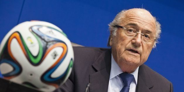 FIFA president Sepp Blatter talks during a press conference following an executive meeting of the football's world governing