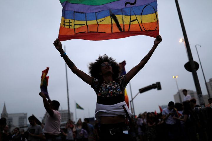Massive feminist-led protests against Bolsonaro erupted across Brazil last weekend, calling on voters to choose anyone but th