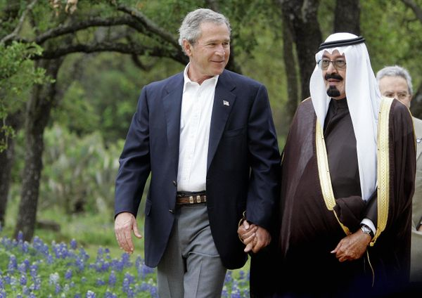 President George W. Bush was very close with King Abdullah of Saudi Arabia throughout his time in the White House, during whi