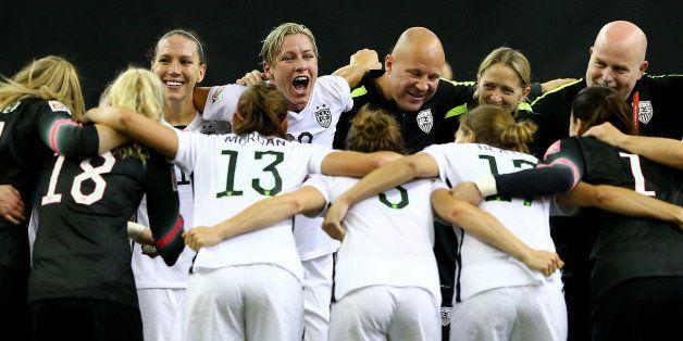 MONTREAL, QC - JUNE 30:  Abby Wambach #20 of the United States celebrates after the USA 2-0 victory against Germany in the FI