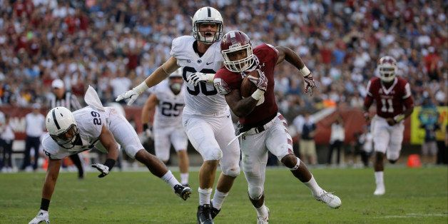 Temple's Jahad Thomas in action during an NCAA college football game against Penn State, Saturday, Sept. 5, 2015, in Philadel