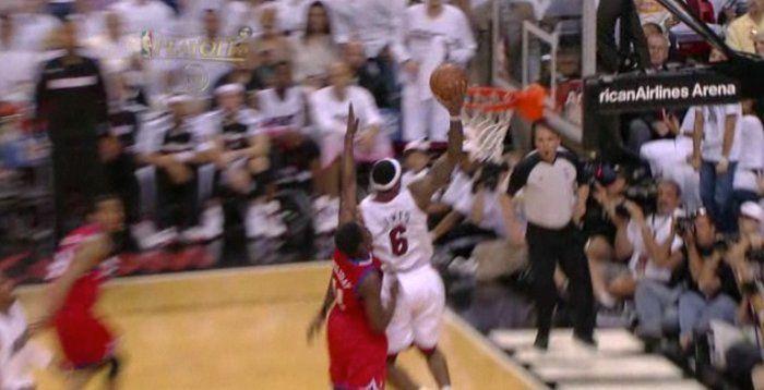 LeBron Slams In Amazing Alley-Oop Against Sixers In Game 3
