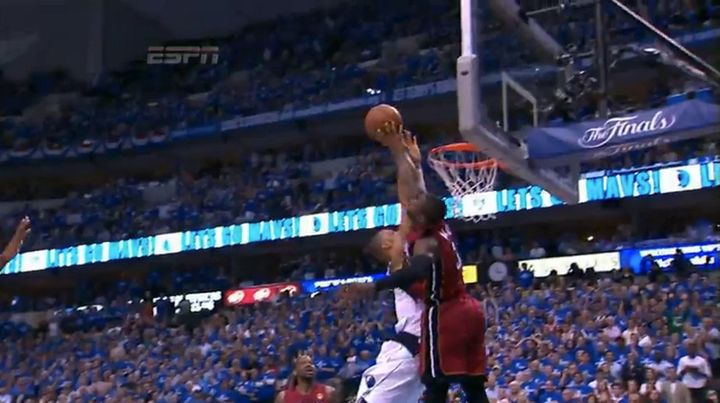 Dwyane Wade Blocks Tyson Chandler's Dunk In Game 4 Of NBA Finals