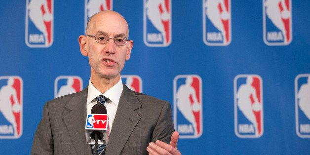 NBA Commissioner Adam Silver speaks at a news conference after an annual NBA owners meeting, Friday, Oct. 23, 2015 in New Yor