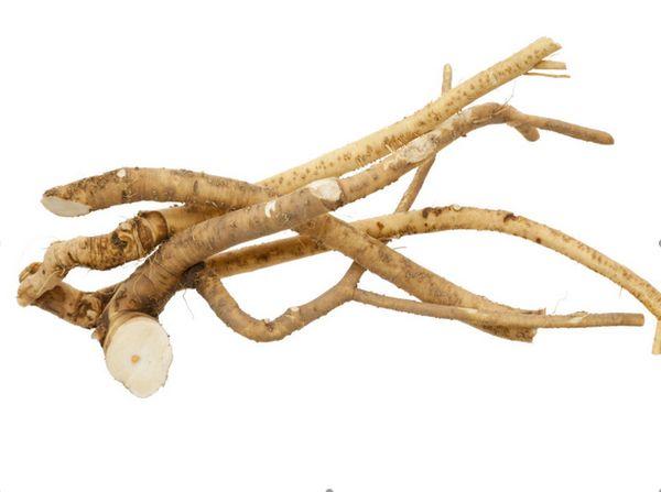 Glucosinolate-rich horseradish fights cancer and kills bacteria. It's also a good source of calcium, potassium, and vitamin C