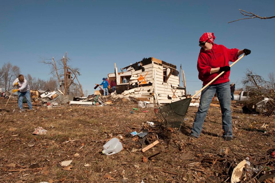 Many of the 300 residents of Harveyville, Kansas, found themselves living the great American nightmare in February when they
