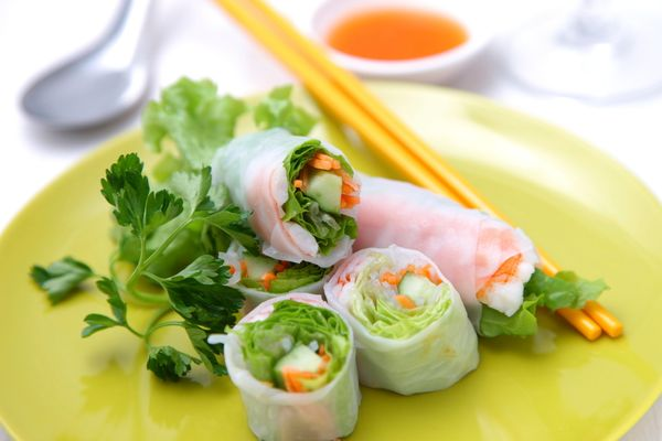 Spring rolls can be a healthy substitute for the deep-fried egg versions, since they're often stuffed with raw vegetables and