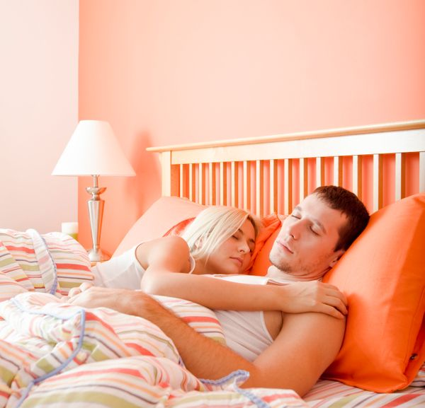 Sleeping together is one thing. SLEEPING together is another. Here is your future-every-night. So take careful, scientific no