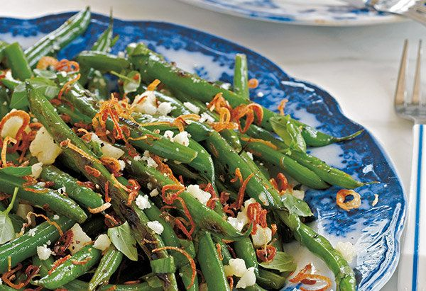 Banish the thought of overcooked, mushy string beans: In this smart recipe, Marden cooks the beans in a small amount of water