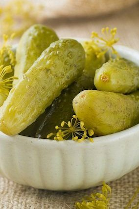 For a dairy-free digestive aid, try pickles, suggests Beth McDonald, MS, RDN, CSSD, an integrative and sports nutritionist at
