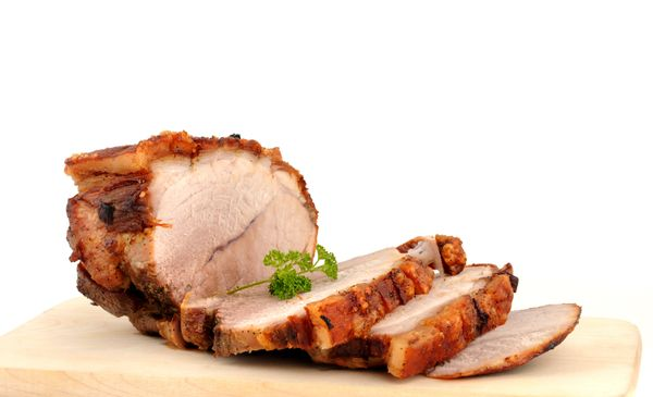 It's surprisingly fast -- and easy -- to roast tender, juicy pork tenderloin. This recipe has you coat the meat with a simple