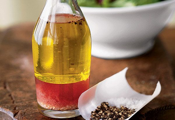 This blend starts with the classic ingredients -- olive oil, Dijon mustard, red wine vinegar -- but veers in a zippier direct