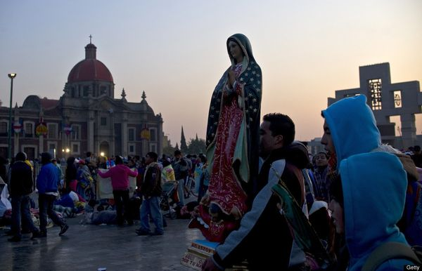 Our Lady of Guadalupe Basilica is the most popular Marian shrine in the world, visited by pilgrims from around the world pray