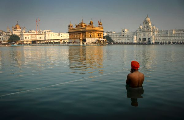 "The <a href=""http://www.sacred-destinations.com/india/golden-temple-of-amritsar"" target=""_blank"">Golden Temple</a> is located"