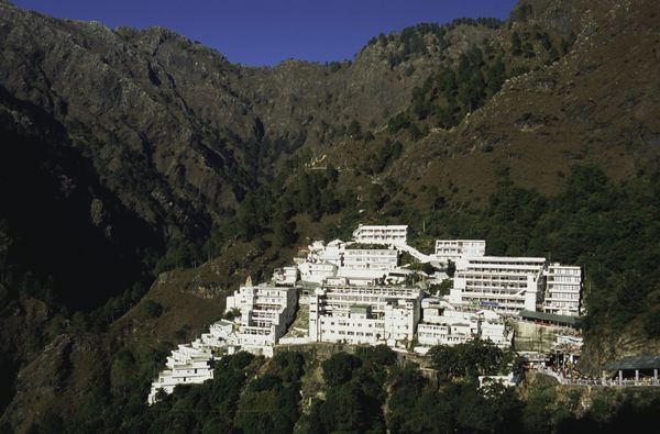 The Mata Vaishno Devi temple is located in the northern state of Jammu and Kashmir near the town of Katra. It is one of the m