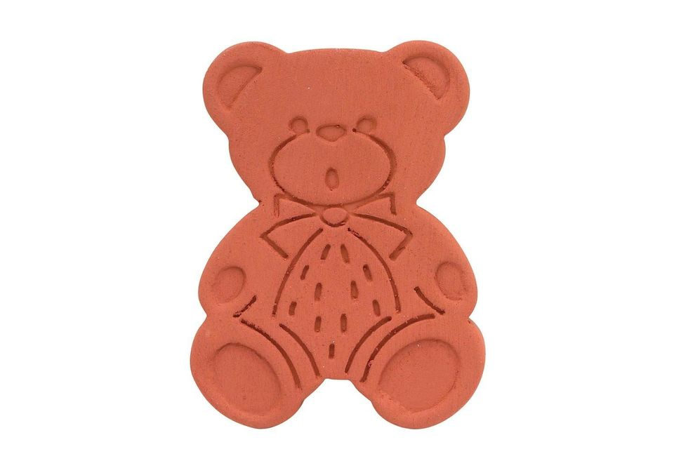 <strong>What it was made for: </strong>Soak this little clay bear in a cup of water for 20 minutes, and then nestle it within