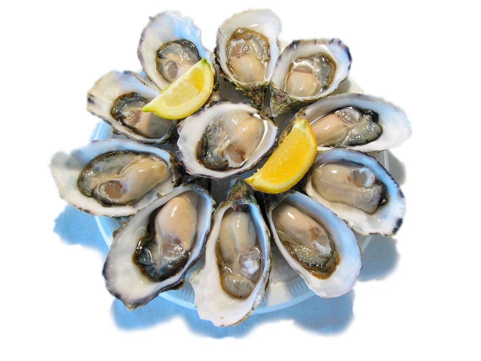 Oysters are a great source of zinc. Zinc is responsible for keeping your hair and nails healthy and is responsible for tissue