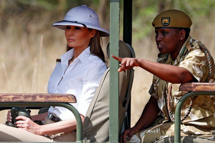 Melania Trump on a safari in Nairobi, Kenya, on Oct. 5.<i></i>