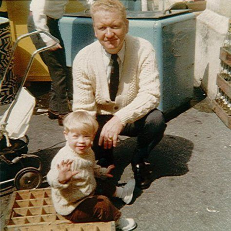 Actor Chris Burke with his father
