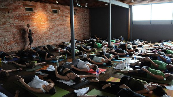 "<strong>What: </strong>The line between yoga and cardio continues to blur as classes combine yoga and cycling (<a href=""http:"