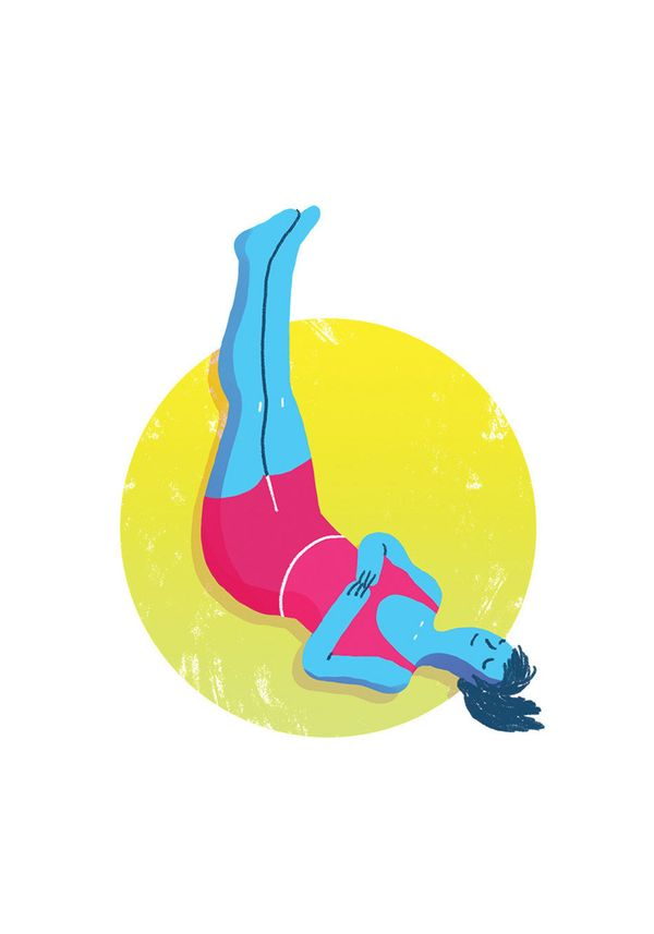 Form an L shape with your body by placing your legs against the wall at the head of your bed (or against your headboard if yo