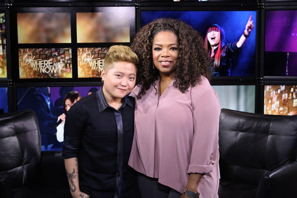 With Oprah, 2014