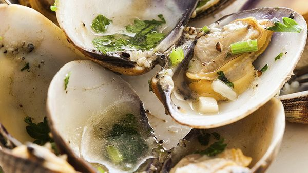 <strong>What it is: </strong>A raw-bar feast  <br><br> <strong>How much iron you get: </strong>Per 3-ounce serving, oysters h