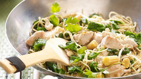 <strong>What it is: </strong>Tofu, chicken and spinach stir-fry  <br><br> <strong>How much iron you get:</strong> Three ounce