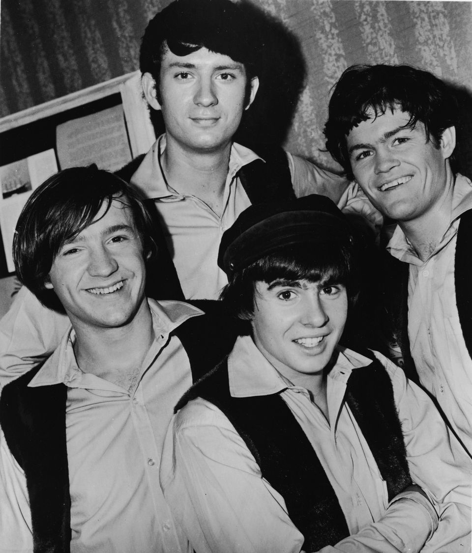 The Monkees in 1967. From left: Peter Tork, Michael Nesmith, Davy Jones, and Mickey Dolenz.