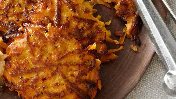 "<br><b><a href=""http://www.oprah.com/food/Sweet-Potato-Pancakes-Recipe"" target=""_blank"">Get the recipe</a></b>"