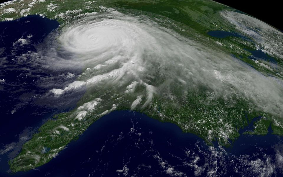 This Aug. 29, 2005 file photo provided by NOAA shows a satellite image of Hurricane Katrina. (AP Photo/NOAA, File)