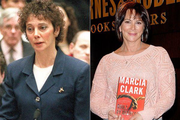 LEFT: Lead prosecutor Marcia Clark in 1995.  RIGHT: Marcia Clark in 2012.
