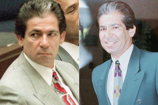 LEFT: Robert Kardashian in 1995.  RIGHT: Robert Kardashian in 1996.