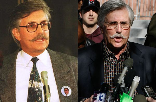 LEFT: Fred Goldman in 1995.    RIGHT: Fred Goldman in 2008.