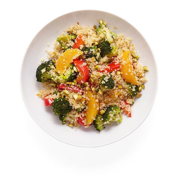 "This non-boring grain dish stars superseed quinoa, which we love for its crunchy, nutty taste and <a href=""http://www.prevent"