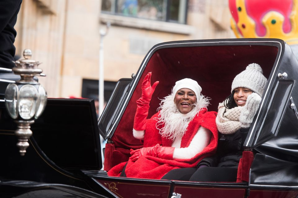 Cicely Tyson rides a float in the Macy's Thanksgiving Day Parade on Thursday, Nov. 27, 2014 in New York. (Photo by Charles Sy