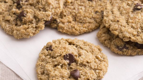 A cross between an oatmeal and a chocolate chip cookie, these treats will appease any craving for something sweet and chewy.