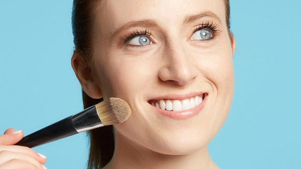 Everything looks more polished on a perfect canvas, so it's important to prep your skin with foundation (or primer), applied
