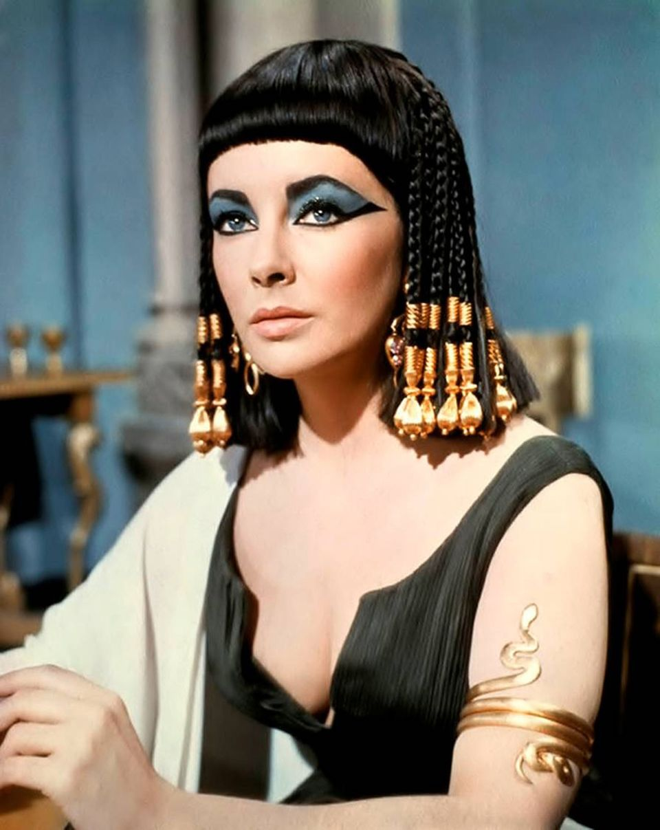 There is something so elegant about Cleopatra's jet black, braided 'do (seen here on Elizabeth Taylor). It's strong and bold,