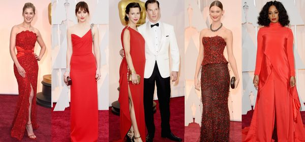 """Red was one of the hottest colours of the night with <a href=""""http://www.huffingtonpost.ca/2015/02/22/rosamund-pike-oscars-20"""