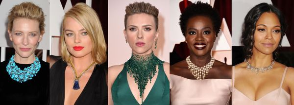 """Statement necklaces are here to stay! <a href=""""http://www.huffingtonpost.ca/2015/02/22/cate-blanchett-oscars-2015_n_6723298.h"""