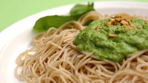 Pesto may be best known as a pasta sauce, yet it's such a versatile condiment to have in your refrigerator. You can spread it