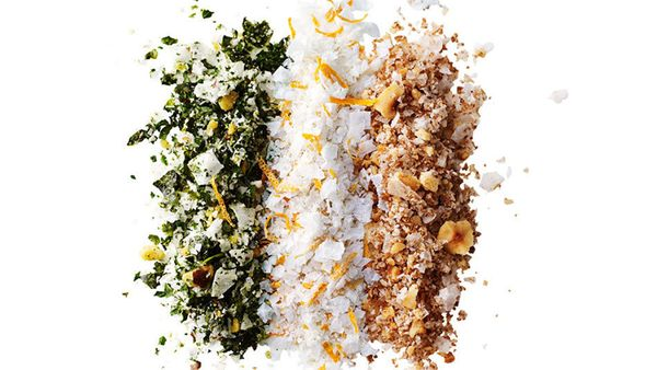 It's true that you'd have to use way more than you'd want to in order to consider this infused kale salt a significant helpin