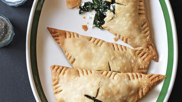 Empanadas are easy to make if you use refrigerated pie crust; just cut the dough into triangles, place some sort of stuffing