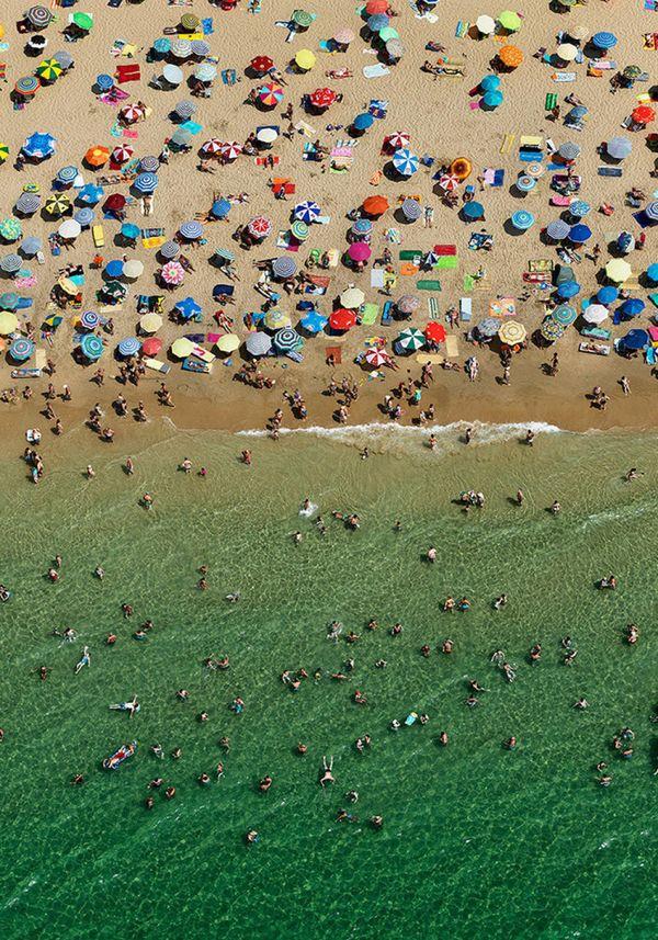 "An aerial view of a beach in Spain. <br> <br> Photo: <i><a href=""http://www.edwardburtynsky.com"" target=""_blank""> ""Benidorm #"