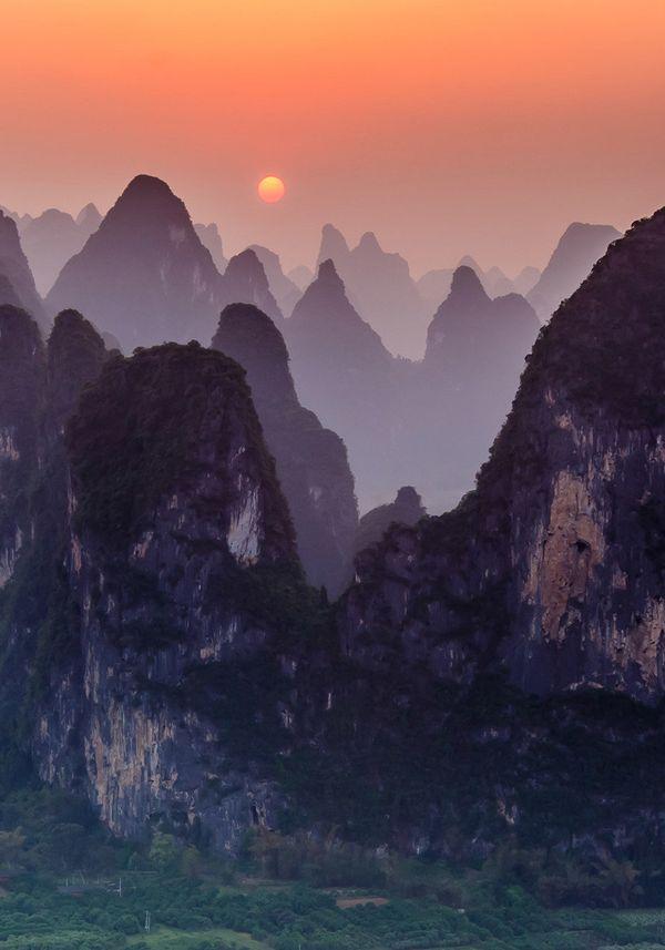 "Sunset at Xingping, China.  Photo: <a href=""https://www.facebook.com/jamesbianphotography"" target=""_blank"">James Bian</a>"