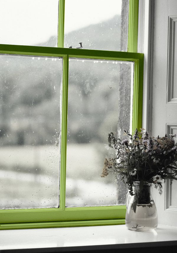 Since the weather-stripping on many windows is black, you may not even notice the grime that accumulates there. Wipe that are
