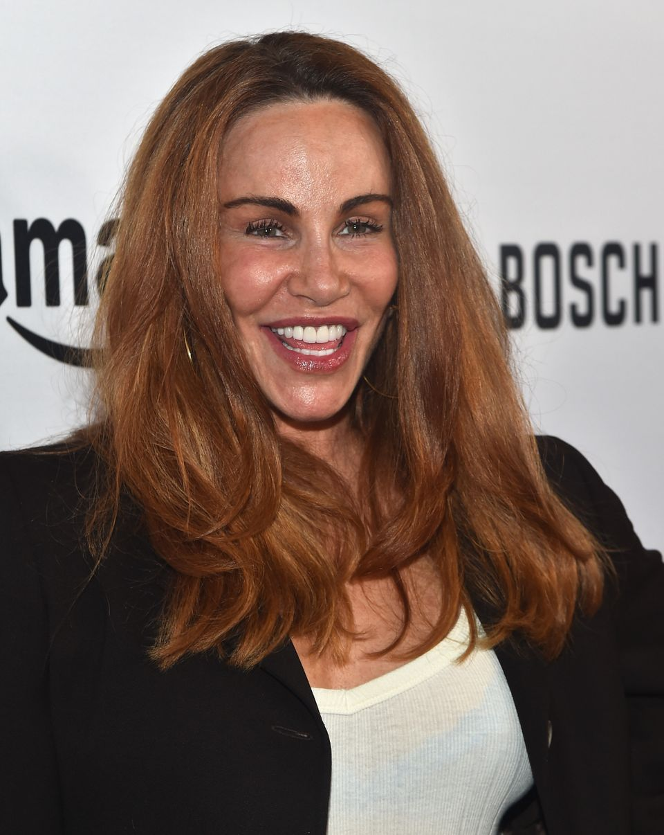 Actress Tawny Kitaen arrives for the red carpet premiere screening for Amazon's first original drama series 'Bosch' at The Do